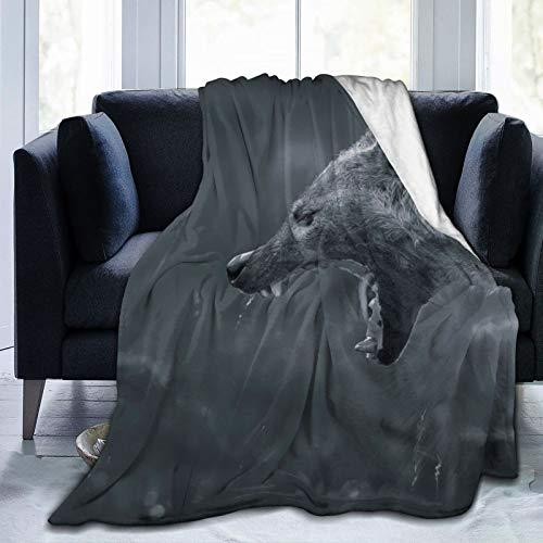 Affordable shop FleeceBlanket50'x60'- Nena Hyena Jaws Teeth HomeFlannelFleeceSoftWarmPlushThrowBlanketforBed/Couch/Sofa/Office/Camping