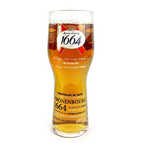Kronenbourg 1664 Verre à bière personnalisable et gravé