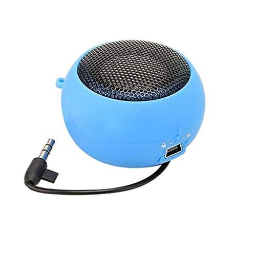 WYL draagbare luidspreker, kleur mini-burger-luidspreker versterker voor iPod iPad-laptops en verschillende merken mobiele telefoons, blauw