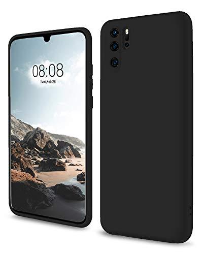 SouliGo Huawei P30 Pro Hülle, Huawei P30 Pro Handyhülle Silikon Gel Slim Hülle Cover Flüssigsilikon mit Innenfutter Mikrofaser Kratzfest Hülle für Huawei P30 Pro / P30 Pro New Edition Schwarz