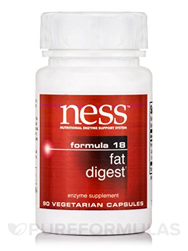 Ness Enzymes - Fat Digest #18 90 caps [Health and Beauty]
