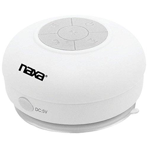 NAXA Electronics Waterproof Wireless Speaker with Bluetooth (White)