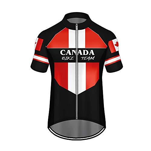 WAWNI Ciclismo Jersey Stampa 3D Paese Bandiera Nazionale Cerniera Poliestere Tasche Jersey Estate Ciclismo Panno (V07098,L)