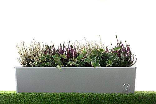 Kreiselmeyer-Design Design Blumenkasten Blumenkübel Pflanzgefäß - aus Edelstahl einseitig Gebürstet, 100% Rostfrei