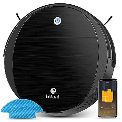Lefant M213 Robot aspirador y fregasuelos, silencioso, superfino, autocargable, funciona con WiFi / APP / Alexa, ideal para pelo de mascotas, alfombras, suelos duros
