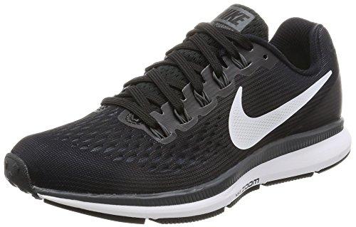 Nike Womens Air Zoom Pegasus 34 Black/White/Dark Grey/Anthracite Running Shoes (6)