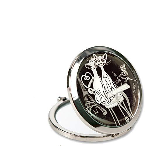 Stijl B Ontwerp Dames Pocket Flip Reizen make-up Handtas Spiegel Metaal Meisjes Pocket Compacte Spiegel