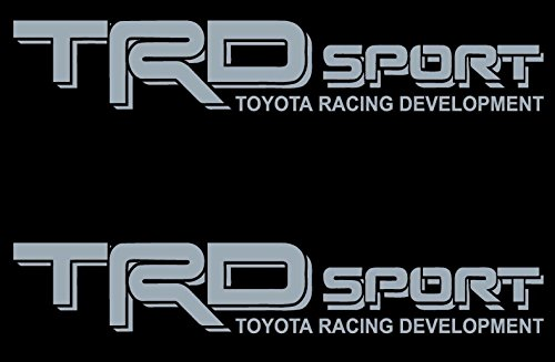 Black Gray Wording Decals Vinyl Stickers Graphics Letters Side Pickup Tacoma 4X4 Racing Development Truck Auto Car Compatible Design Use for (Toyota TRD Sport)
