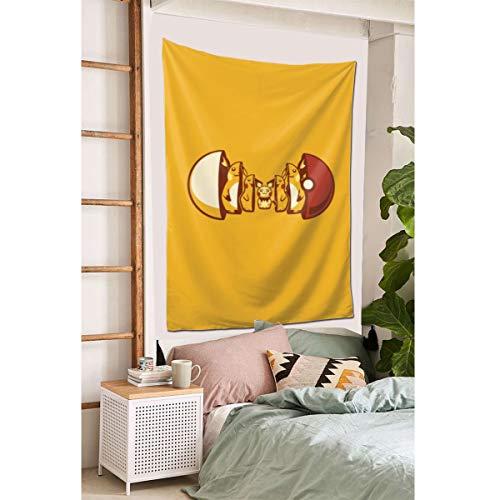 "Grtswp Pikachu Pok茅 Balls Raichu Pichu Tapestry, Wall Hanging Tapestries Europe Tapestry, Wall Decor for Dorm Bedroom Living Room 60""x 40'"