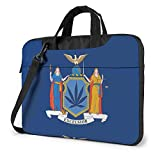 Borsa a tracolla per laptop a tracolla per laptop con bandiere dello stato di New York NY, custodia da trasporto per notebook da 15,6 pollici con