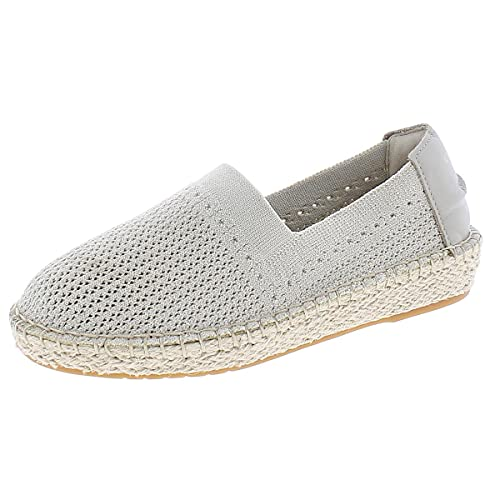 Cole Haan Women's Cloudfeel Stitchlite Espadrille Loafer Flat, Hawthorn/Ch Gold Metallic Knit/Hawthorn Leather/Natural Jute, 6.5