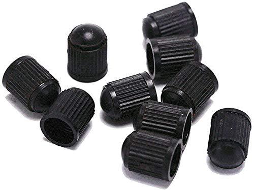 10 Stück schwarze Kunststoff-Reifenventilkappen für Schrader-Ventil, Universal-Reifenstiel-Staubkappen, Radkappen für Fahrrad, Motorrad, Autos, SUVs und LKWs