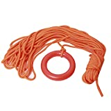 NovelBee 8mm x 30m Floating Water Life Saving Rope with Orange Bracelet for Diving Snorkeling Water Sports Rescue