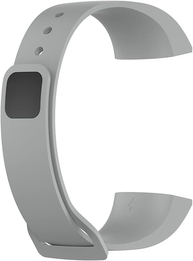 Correa de muñeca de Silicona para Xiaomi MI Banda 4C Reloj de reemplazo Sport Sport Soft Correa para la Banda de Redmi Pulsera Inteligente para la Banda MI (Color : Gray)