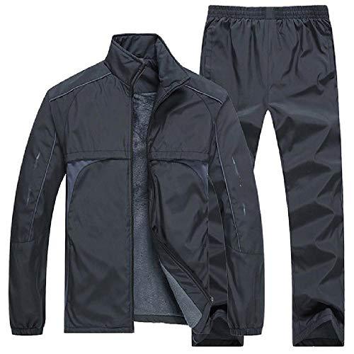 Ropa deportiva de los hombres traje de la chaqueta+pantalón joggers Sweatsuit masculino chándal