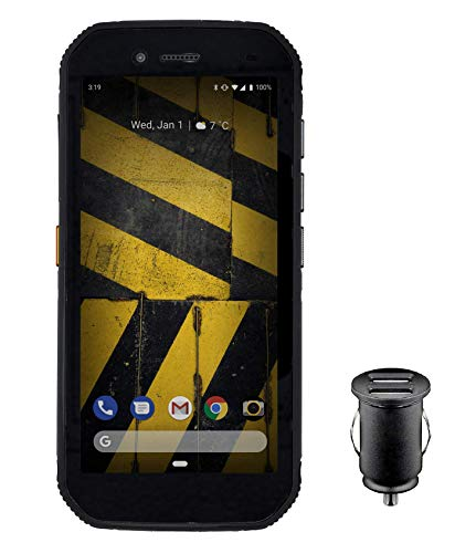 CAT S42 Robustes Outdoor Smartphone (13.97cm (5.5 Zoll) HD+ Display, 32 GB interner Speicher, 3GB RAM, Dual-SIM, Android 10, Stoß- und Wasserdicht) - Exklusive Amazon Edition inkl. 12V KFZ-Adapter