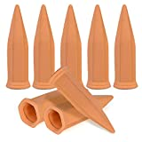GROWNEER 8 Packs Terracotta Plant Watering Stakes, Automatic Garden Watering Spikes, Self-Watering Device Vacation Plant Waterer, for Indoor Outdoor Home and Office Plants