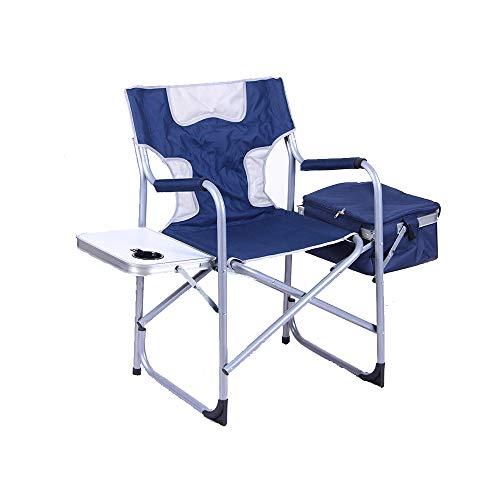 HYRL Multi-Fonction Pliante Tabouret de pêche, Pique-niquer Portable chaises en Plein air léger Barbecue Camping Chaise avec Table d'appoint et Sac de Rangement