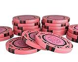 Bullets Playing Cards - 20 fichas de póquer Corrado para juego de póquer - sin valores - 14 g - 4 cm de diámetro - Color rosa