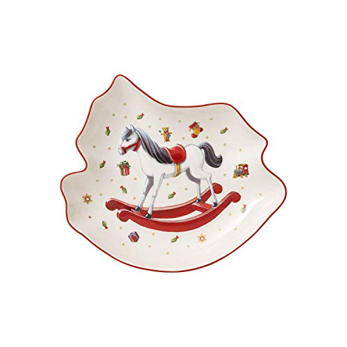 Villeroy & Boch Toy's Delight Coupelle en forme de cheval à bascule, Porcelaine Premium, Blanc/Rouge