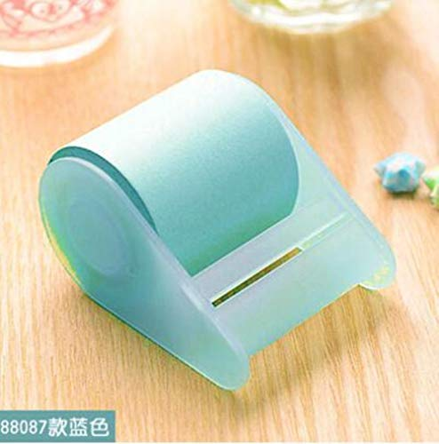 MALAT Kawaii Fluorescent Paper Sticker Memo Pad Stationery Mini Office Xpress Can Tear Sticky Notes,Sky Blue