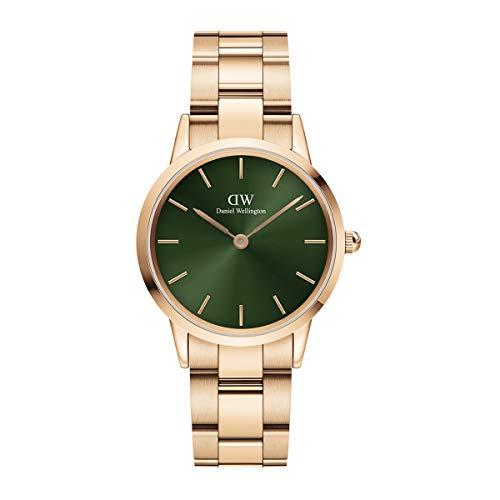 Reloj Daniel Wellington Iconic Link Emerald Rose Gold 32mm DW00100420