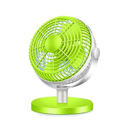 *KK* Ventilatore del USB da 7 Pollici Piccolo Ventilatore Elettrico Muto Studente dormitorio Mini Ventilatore Mini Ventilatore da Tavolo Ventilatore da Ufficio Desktop (Verde)
