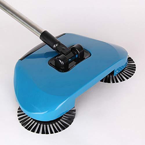 Sisyria Haushaltswischmopp, Bodenwischmopp Bodenwischmaschine Staubsauger Kehrmaschine Bürste Kehrmaschine Hand-Push-Reiniger,Blue