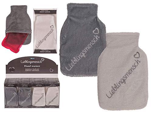 MC Trend Set van 2 zakwarmer handwarmer lievelingsmens warm knuffelig zacht herbruikbaar grijs + wit