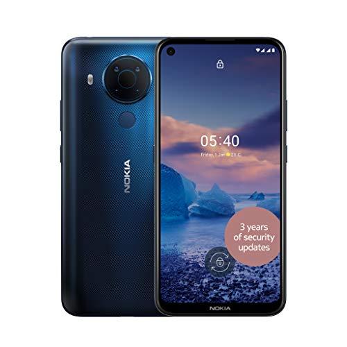 Nokia 5.4 6.39 Inch Android UK SIM Free Smartphone with 4 GB RAM and 64 GB Storage (Dual SIM) - Polar Night