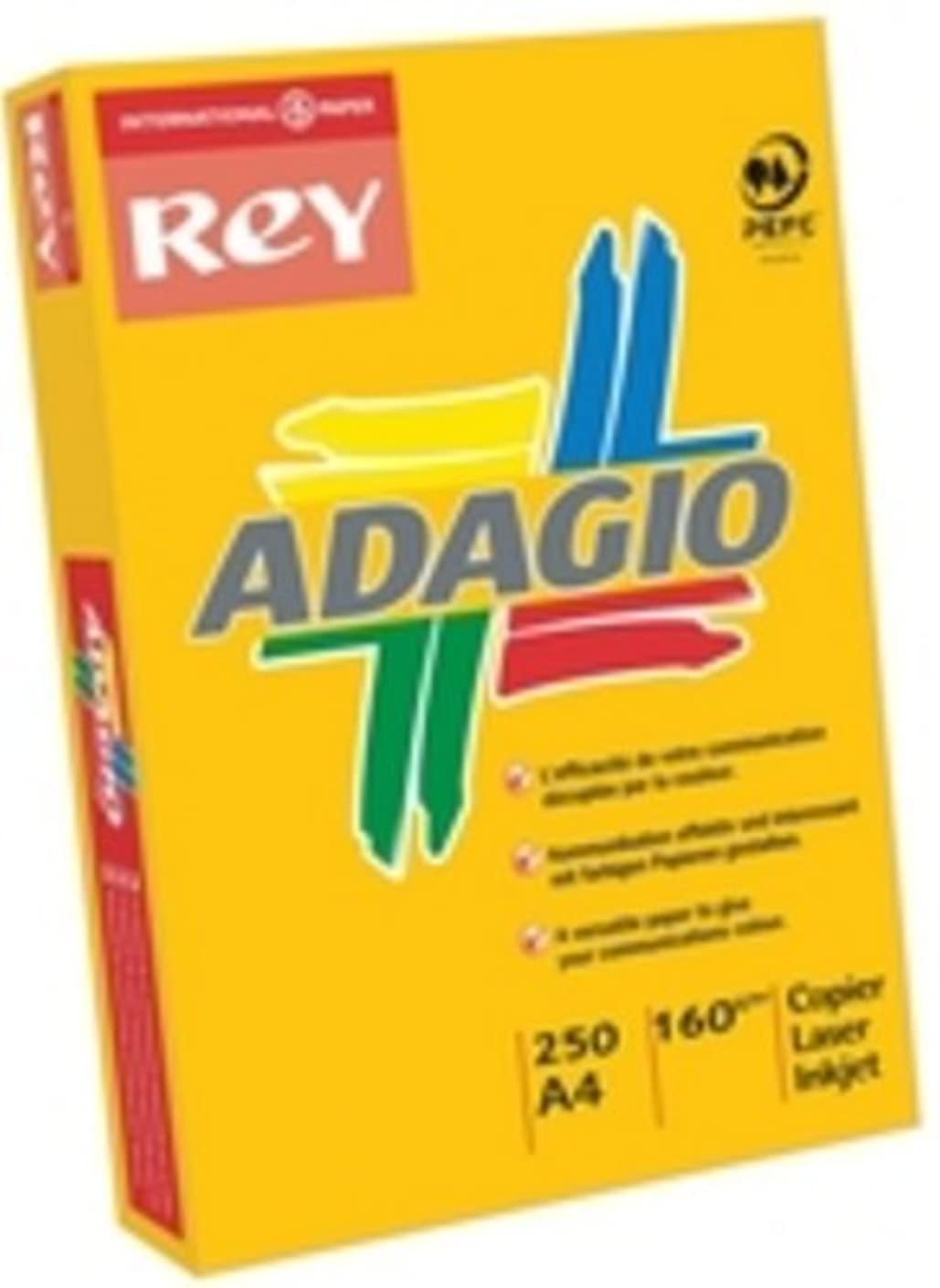 Adagio A4 160gsm Card - Assorted Pastel (Pack of 250),AMP2116