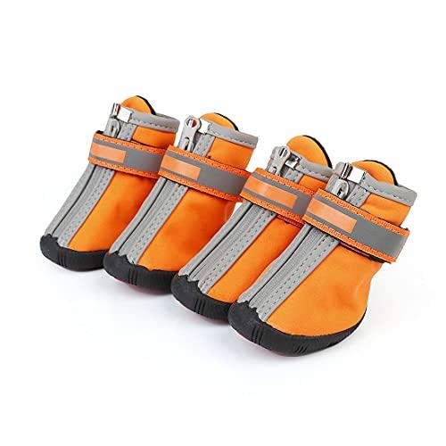 Hundeschuhe Hunde Im Freien Schuhe Anti-rutsch-wasserdichte Schuhe Anti-Pinch Reißverschluss Reflektierende Strap Teddy Bichon Spitz Corgi Pudel Schnauzer Papillon Mops
