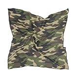 Women's Graphic Print Premium Silk, Camouflage Silk Scarf Square, 24X24 Inches