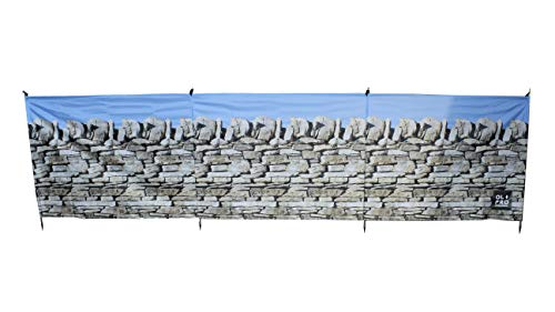 Olpro Lightweight Outdoor Stone Wall Windbreak available in Stone - Size 4.8 X 1.4 m