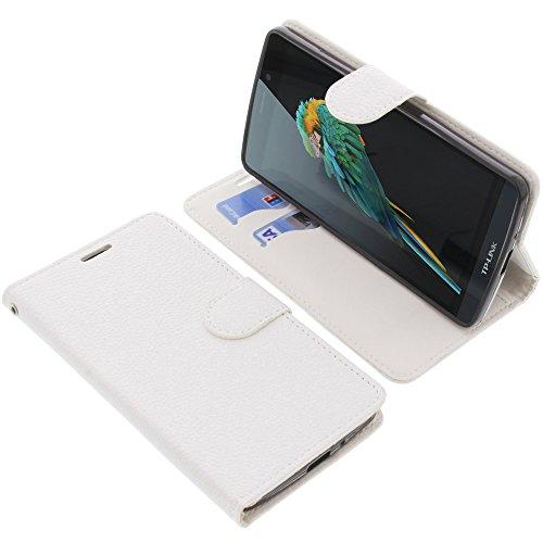 foto-kontor Tasche für TP-Link Neffos C5 Max Book Style weiß Schutz Hülle Buch