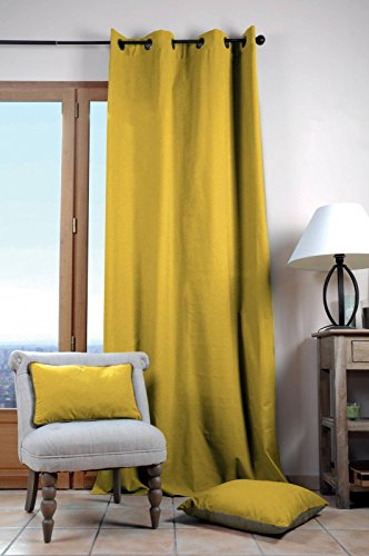 Lovely Casa Duo Uni - Cortina (135 x 240 cm), Color Amarillo