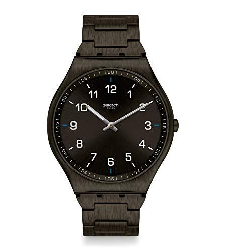 Swatch Reloj Unisex Adulto de Cuarzo analógico con Correa en Acero Inoxidable SS07B100G