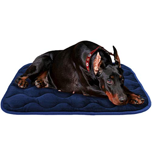 AIPERRO Dog Bed Crate Pad 30/36/42/46 Inch Anti Slip Portable Pet Sleeping Mattress Washable Kennel Mat for Large Medium Small Dogs and Cats,46 Inch Beds