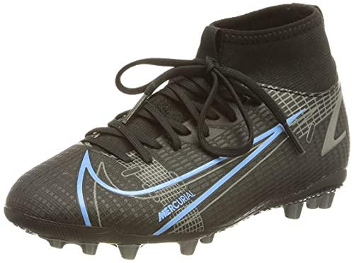 Nike Mercurial Superfly 8 Academy AG, Zapatillas de ftbol, Black Black Iron Grey, 38 EU