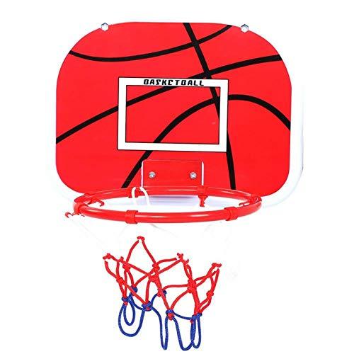 Pwshymi Mini verstellbare Basketballplatte Set Indoor-Basketballspielzeug Kinder Kinderspielzeug Geschenkgruppe Aktivität(Two Hooks)