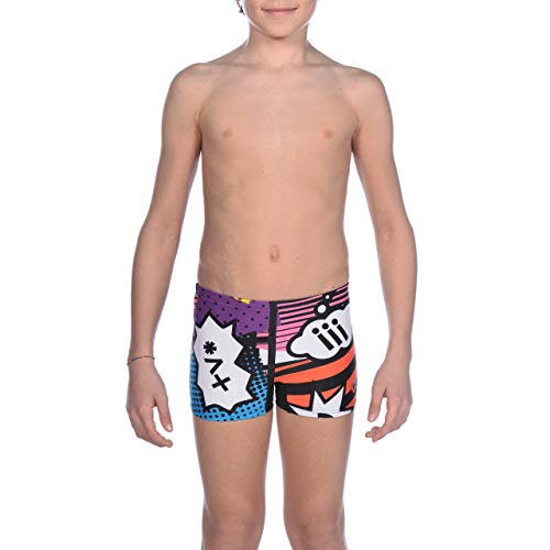 Arena b cheerfully jr Short Maillot de bain Garçon, Black/Multi, FR : 2XL (Taille Fabricant : 14-15)