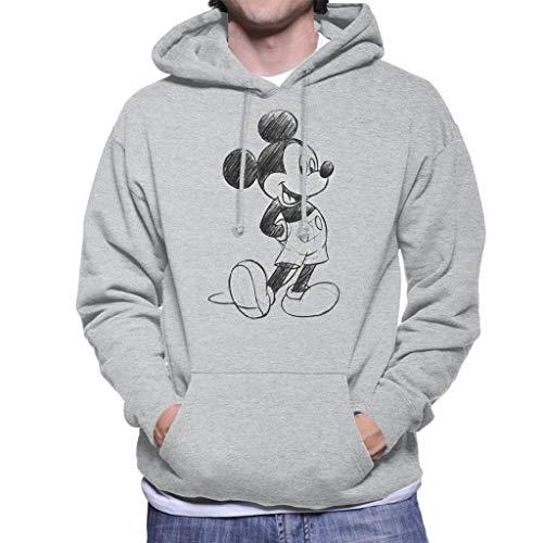 Disney Mickey Mouse Sketch Drawing Men's Hooded Sweatshirt