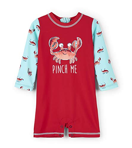 Hatley One-Piece Rash Guard Swimsuits Maillot, (Silly Crustaceans), (Taille Fabricant: 9-12 Mois) Bébé garçon