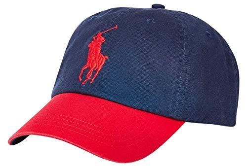 POLO RALPH LAUREN Men's Classic Big Pony Baseball Cap - Navy/Red