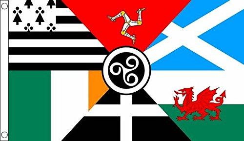 Flag Wholesaler Celtic Nations Flagge, Mehrfarbig, Large