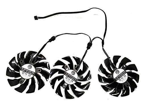 iHaospace PLD10015B12H DC12V 0.55A GTX1080Ti Fan for Gigabyte AORUS GeForce GTX 1070/1080 Xtreme Gaming RTX 2060 1080 Ti Xtreme Edition Video Card Fan (set da 3 pezzi)
