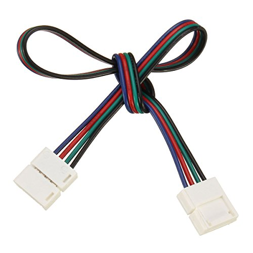 MASUNN 10/30/50/100 cm Connecteur RGB 4 Broches Câble Rallonge Cordon pour Smd5050 LED Light Strip-100 cm