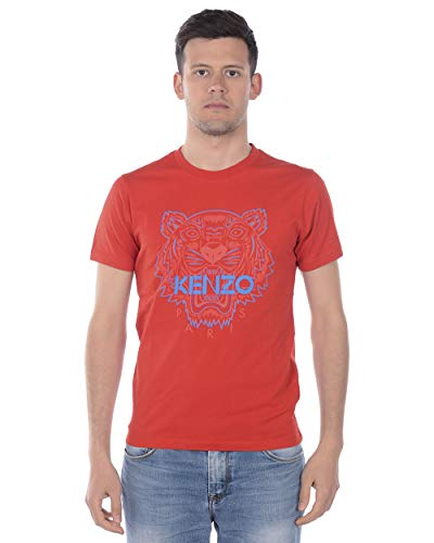 Kenzo Camiseta Tiger Hombre BLU