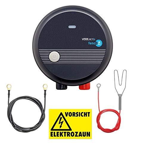 Pastor eléctrico Voss.Pet fenci M03, Electrificador de Cerca 230V, para Perros, Gatos y Animales pequeños