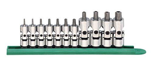 GearWrench 81052 Universal-Torx-Bit-Steckschlüssel-Set, manipulationssicher, 6,35 mm (1/4 Zoll), 9,5 mm (3/8 Zoll) Antrieb